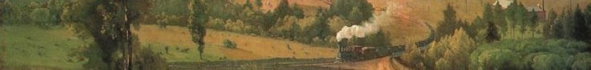 "Detail from ""The Lackawanna Valley"" by George Inness"